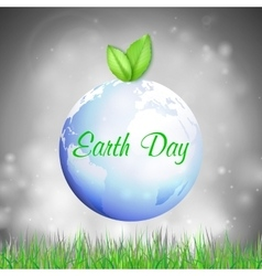 Earth day background with the words blue planet vector