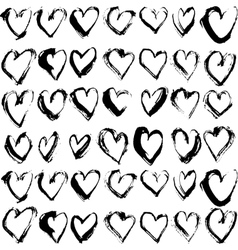 Abstract seamless heart pattern Ink vector image vector image