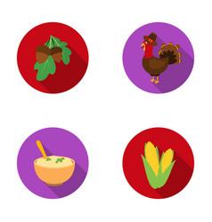 acorns cornarthene puree festive turkeycanada vector image