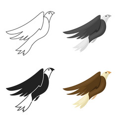 American eagle icon in cartoon style isolated on vector