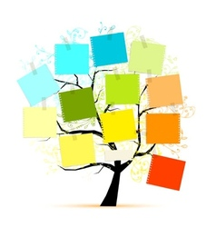 Art tree with stickers for your design vector