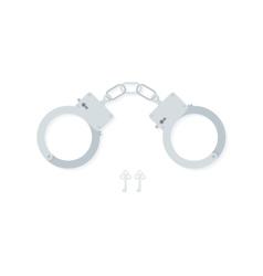 Bdsm handcuffs bondage element to immobilize vector