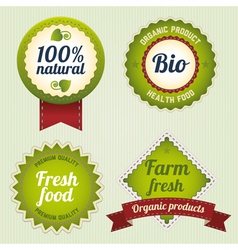 Bio labels vector image vector image