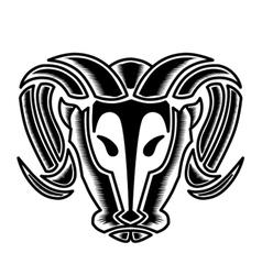 Bulls head vector