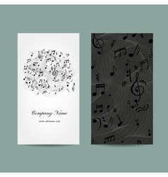 Business card with music design vector