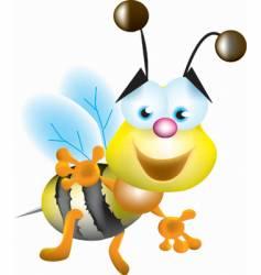 Buzzing bee vector