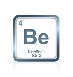 Chemical element beryllium from the periodic table vector