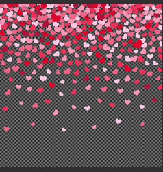 Flying hearth confetti isolated on transparent vector