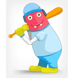 Funny Monster Baseball vector image vector image