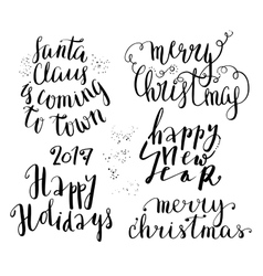Happy new year lettering set vector