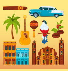 Havana cigar and others differents cultural vector