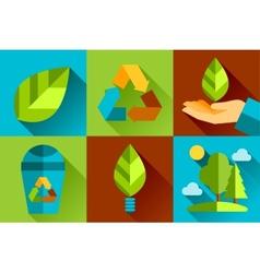 Modern flat design conceptual ecological vector image vector image