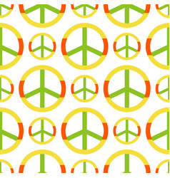 Peace symbol made of hippie theme pacifism vector