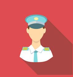 Pilot icon flat style vector