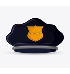 Police hat cloth accesory design vector