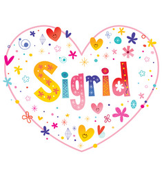 Sigrid girls name vector