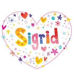 sigrid girls name vector image vector image