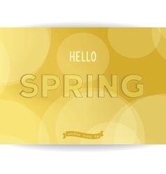Spring golden inscription vector