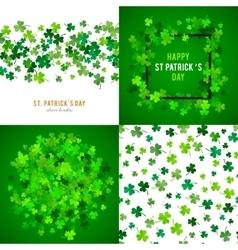 St Patricks Day background set vector image vector image