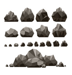 Stones and rocks 3d isometric vector