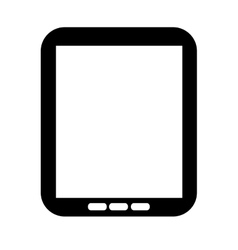 Tablet technology device isolated icon vector image