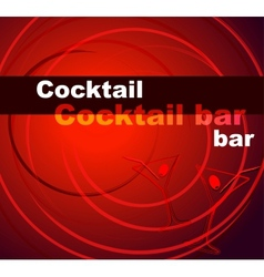Template of a cocktail bar vector image vector image