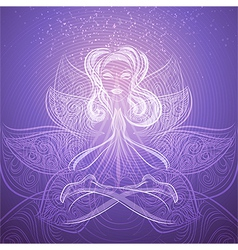The meditation vector image vector image