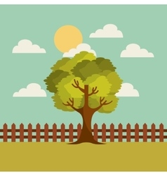 Tree landscape design vector