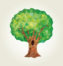 Tree low poly abstract stylized vector