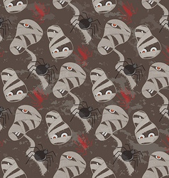 Vintage seamless pattern for Halloween party vector image