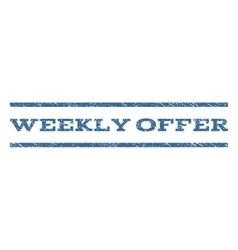 Weekly Offer Watermark Stamp vector image
