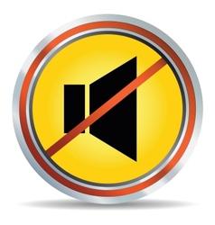 3d glossy speaker web icon design element vector image