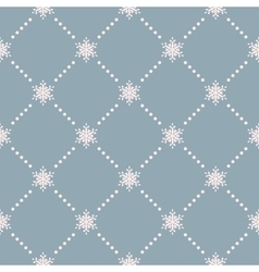 Seamless winter background with snowflakes EPS 10 vector image