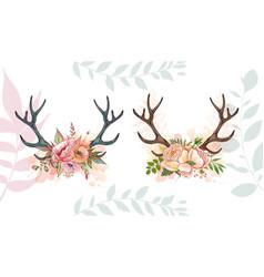 Summer romace deer vector