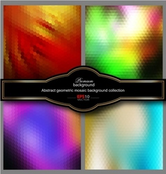 Mosaic gradient geometric background set vector