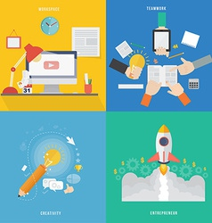 Element of workspace creative teamwork and vector