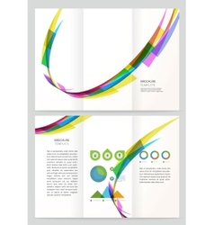 Abstract wave brochure template vector