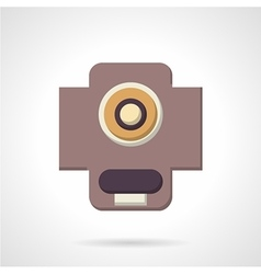 Flat color support bearing icon vector