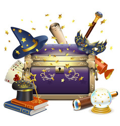 Magic chest vector