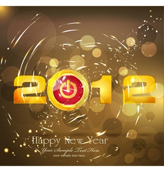new year background with a button power vector image