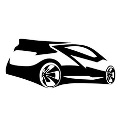 Car sports silhouette vector