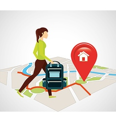 Gps service design vector