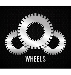 Industrial wheel with back and white colors vector