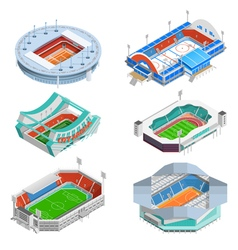 Stadium icons set vector