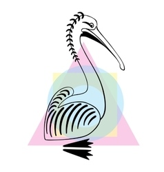 Pelican bird  sign logo vector