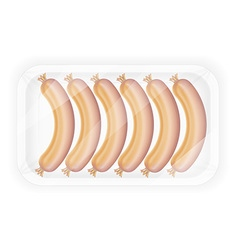 Sausages in packaging 01 vector