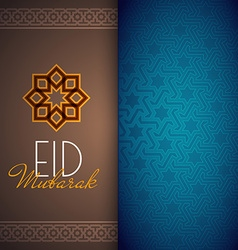 Eid mubarak greeting card or background with vector