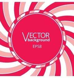Swirling radial vortex background with round blank vector