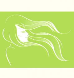 abstract girl's profile vector image vector image