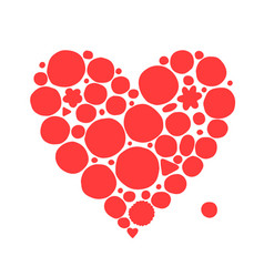 Abstract red heart shape sketch for your design vector